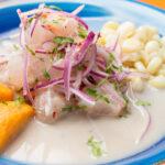 Ceviche de corvina ecuatoriano, fresco y con rico sabor norteño