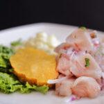 Ceviche de pescado blanco, estilo colombiano, prueba su excepcional sabor