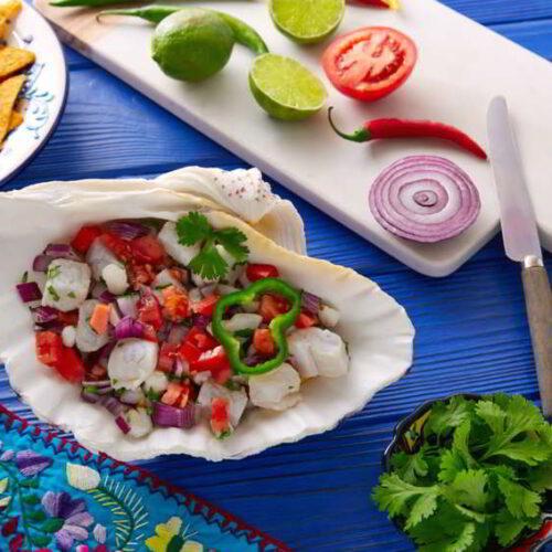 ceviche mexicano de pescado